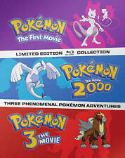 New * Pokemon: The Movie Trilogy Steelbook Collection Blu-Ray  First + 2000 + 3
