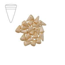 Vetro Ceco 8mm Baby Spike Perline Bianco Champagne Luster Confezione da 20 (m45/2)