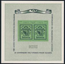 SCHWEIZ 1943, Block 10, tadellos postfrisch, Mi. 90,-