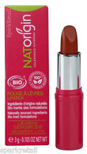 NATOrigin Organic 100% Natural LIPSTICK 3g CORAIL/CORAL Brick Red/Cinnamon