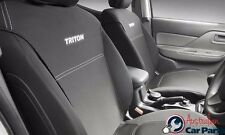 TRITON SEAT COVERS FRONT MITSUBISHI GENUINE MQ MY16 Single Cab May 2015-onwards