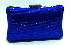 US Stock ROYAL BLUE ~Unique Evening Handmade Rhinestone Crystal Purse Clutch Bag