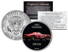 1963 FERRARI 250 LM *Most Expensive Auction Cars* Colorized JFK Half Dollar Coin
