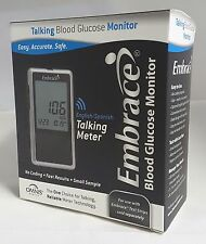 Omnis Embrace Blood Glucose Talking Meter No Coding Required