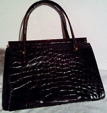 (PRL) BORSA DONNA ORIGINALE COCCODRILLO MARRONE CROCODILE WOMAN'S HAND-BAG