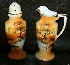Noritake Tree In The Meadow Berry Sugar Shaker and Syrup Set