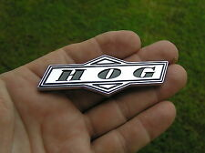 ~ HOG ~ MOTORCYCLE EMBLEM Chrome Metal Badge NEW &UNIQUE suit HARLEY DAVIDSON  B