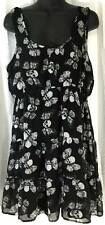 Hot Topic Womens Dress Size Junior Extra Large Black White 7665