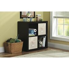 Better Homes and Gardens Square 4-Cube Organizer Multiple Colors Espresso (NEW)
