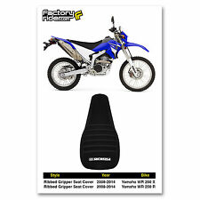 2008-2014 YAMAHA WR 250 X & R All Black RIBBED SEAT COVER BY Enjoy MFG
