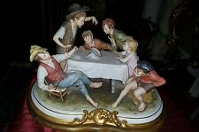 HUGE vintage Capodimonte Cheaters By B. MERLI  Sculpture.