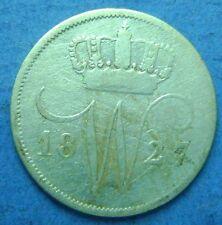 Nederland- Netherlands - zilveren dubbeltje, 10 cent, 1827 U