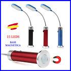 Lampara 15 Leds con IMAN Flexible Alta Luminosidad Portatil Ligera 4 colores