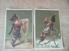 2 x CHROMO BON-POINT ECOLE IMAGE SCOLAIRE LE PETIT ECOSSAIS Scottish Boy 1882