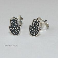 Sterling Silver 925 HAND OF FATIMA Earrings Ear Studs Inc Gift Bag & FREE UK P&P