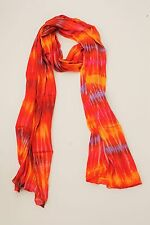 BRAND NEW HANDMADE EXTRA LONG RED / YELLOW TIE DYE SCARF SARONG FREE POST/SCL014