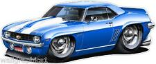 1969 Camaro X-11 ZL-1 COPO 427 Cartoon Car Wall Graphic Decal Decor Man Cave