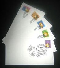 THE SIMPSONS (First Day Issue) Keepsake FDCs Set USPS Post Office New Sealed.