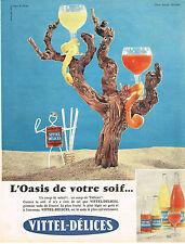 PUBLICITE ADVERTISING 064  1959  VITTEL-DELICES   SODA