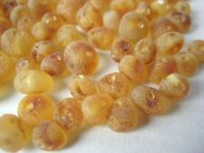 RAW BALTIC HOLED AMBER LOOSE ROUND BEADS 100 CHIP + 1 PLASTIC SCREW CLASP
