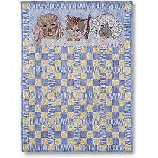 MY FURRY FRIENDS BABY QUILT QUILTING PATTERN, From Garden Trellis Designs NEW