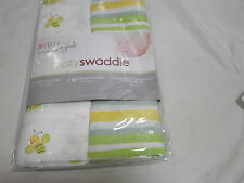 Bedtime Originals A Lambs & Ivy  2-Muslin Swaddles Bees/Stripes Green and Yellow