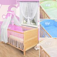 Baby Bettwäsche Himmel Nestchen Bettset mit Applikation100x135cm Neu Herzchen