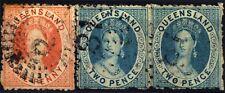 Queensland (Oc)-1866-Victoria. Filigrane QUEENSLAND POSTAGE STAMPS en majuscles