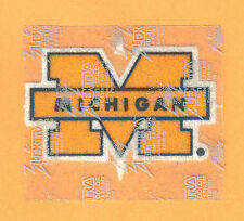 MICHIGAN WOLVERINES large LOGO PATCH Unsold Stock IRON ON