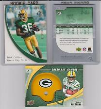 Nick Collins ROOKIE Lot 2005 Authentic #/d /100 GREEN BAY PACKERS HELMET SWATCH