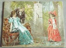 An Interrupted Proposal Antique Bon Marche Non Interlocking Wooden Jigsaw Puzzle