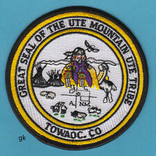 UTE MOUNTAIN COLORADO TRIBAL GREAT SEAL PATCH
