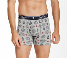 NEW Lucky Brand UNDERWEAR BOXER BRIEFS MENS L Grey Bourbon $21 Retail