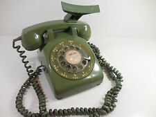 Vintage Western Electric Mdl 500 Avacado Green Rotary Dial Desk Telephone Works