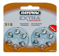 Rayovac Extra Advanced Hearing Aid Batteries Size 312 (Brown Tab) x 12 Cells