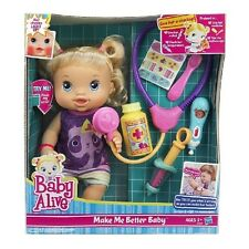 Super Cute Baby Alive Better Now Baby Doll W/ Play Stethoscope By Hasbro New!