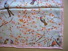 100% Silk twill scarf in ethereal floral printed design fashion accessory wrap