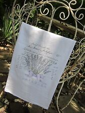 ~ LAVENDER ~ Letter ~ Tea Towel FRENCH Chic BEAUTIFUL ~ Gift