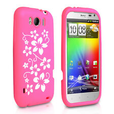 Accessories For HTC Sensation XL Stylish Floral Design Silicone Case Cover Skin