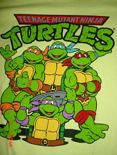Mens Womens Teenage Mutant Ninja Turtles-Green-T-Shirt-XL