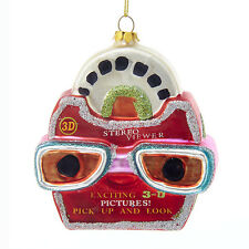 "NB1123 Noble Gems 4"" Picture Viewer View Finder Game Glass Christmas Ornament"