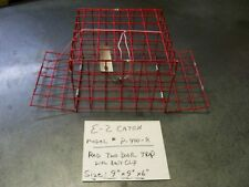 E-Z Catch Crabbing Kid's Size Weekender 2 Door PVC Coated Red Crab Trap or Cage