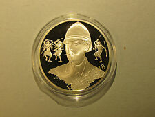 2002 Czech Republic 200 Korun Silver Proof Coin AFRICAN EXPLORER EMIL HOLUB