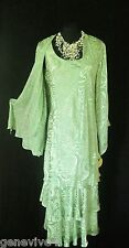 New CATTIVA Size 14 16 Green Pearl Ladies Designer Wedding Dress & Jacket Outfit