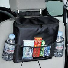 Car Auto Seat Back Multi Pocket Storage Cool Hot Bag Organizer Holder Black - CB