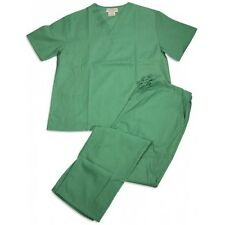 MENS SURGICAL TROUSERS MEDIUM COTTON POLY GREEN SCRUB PANTS MILITARY SURPLUS