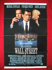 WALL STREET * 1987 ORIGINAL MOVIE POSTER 1SH RARE NSS WHITE BORDER GORDON GEKKO
