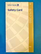 UNITED AIRLINES NEWEST SAFETY CARD--757-200 TRANSCON PS PLANE