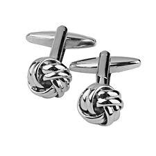 Silver Copper Knot Twist Ball Design Cufflinks Men's Shirt Suit Cuff Links