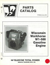 WISCONSIN  HD ENGINE W1-588  PARTS  MANUAL